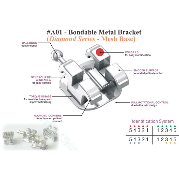 Bondable Roth & MBT Bracket(Diamond)